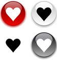 Love button vector