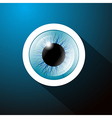 Abstract blue eye on dark blue background vector