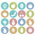 White icons fruit vector