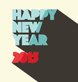 Happy new year 2015 title in retro style vector