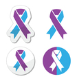 Purple and blue ribbon - pediatric strokes vector