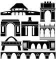 Architecture of the world vector
