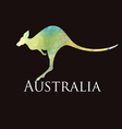 Watercolor silhouette kangaroo sign vector