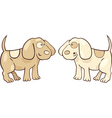 Cartoon illustration of two cute puppies vector