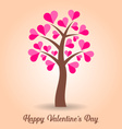Valentine card with tree vector