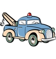 Toy tow truck vector