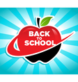 Back to school swoosh apple icon vector