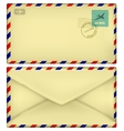 Old postal envelope vector