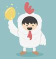 Chicken white and golden egg vector