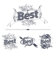 Best label with ribbons vector