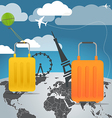 Vacation travelling composition with the bags vector