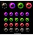 Neon web buttons vector
