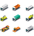 Isometric trucks vector