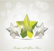 Shiny star icons vector