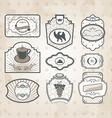 Set of vintage ornate labels vector