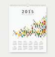 Calendar 2015 colorful geometric template design vector