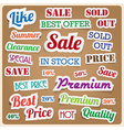 Retro vintage style speech sticker eps10 vector