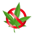 Stop marijuana sign vector