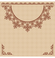 Beige background with vintage ornament vector