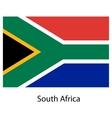 Flag of the country south africa vector