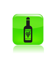 Wine bottle icon vector