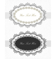 Vintage lace borders set vector