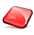 Shiny red banner vector