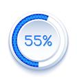 Round progress bar vector