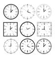 Set of 9 digital clock vector
