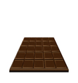 Chocolate bar isolated on white background sweet vector
