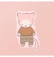 Cute cat clothing vector
