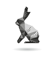 Rabbit abstract isolated vector