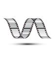 Film stripe curl vector