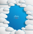 Elegant empty clouds on blue background vector