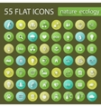Set of ecology nature flat icons vector