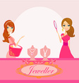 Girls and jewelry vector
