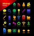 Media minimal icon set vector