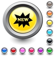 New round button vector