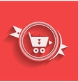 Shopping icon flat modern design vector