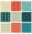 Fashionable and cute patterns vector