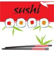 Sushi background vector