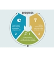 One two three progress steps vector