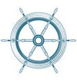 Helm boat vector