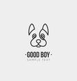 Thin line design template logotype cute dog vector