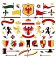 Heraldic set colored vector