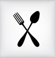 Spoon gray vector