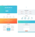 One page flat website design template concept vector