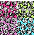 Zebra print backgrounds set vector