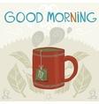 Cartoon flat the cup of tea vector
