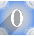 Number zero icon symbol flat modern web design vector